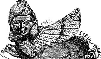 Syrian Bronze Sphinx