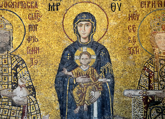 11th-century Mary in Hagia Sophia