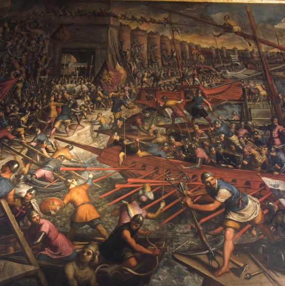 1204 Siege Constantinople Jacopo Tintoretto