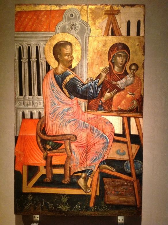 St Luke Painting Byz Mus Athens